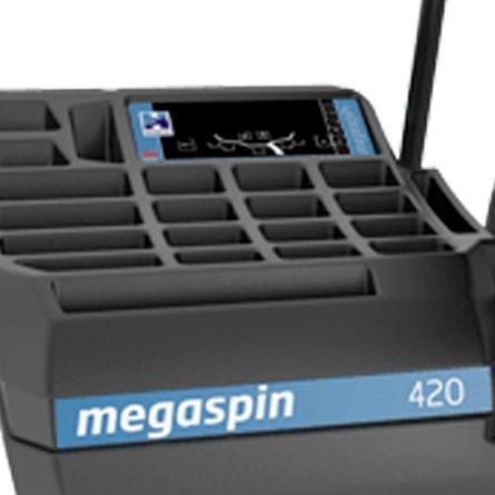 Hofmann Megaplan megaspin 420 wheel balancer screen