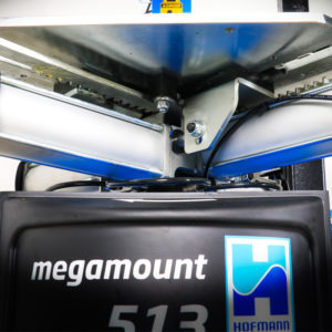 The megamount 513 Tyre Changer with the patented quadraclamp turntable.