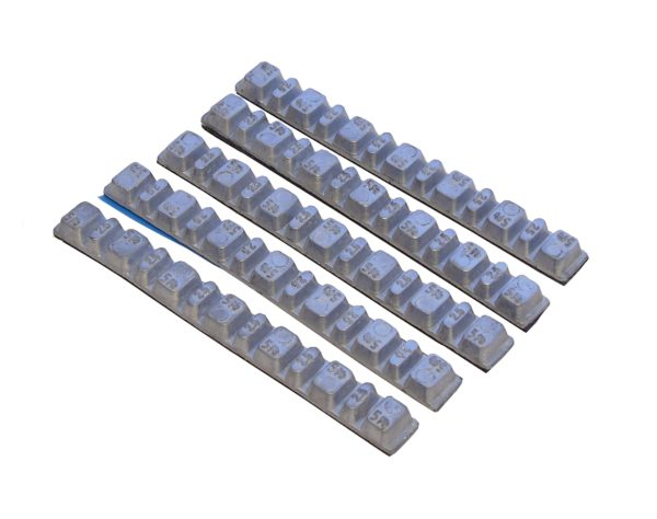 TBDA05 - 100 Strips of Self Adhesive Motorcycle Weights 2.5g and 5g