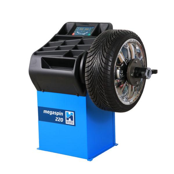 The megaspin 220 Wheel Balancer from Hofmann Megaplan for garages.