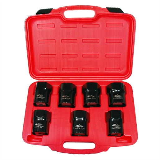 "7PC Locknut Socket Set 1/2"" Drive"