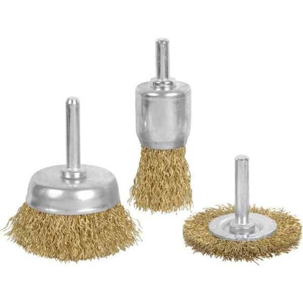TBD238 - Set of 3 Wire Brushes for Drill