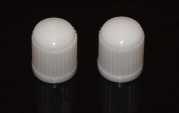VC8W - White Plastic Caps Qty 100
