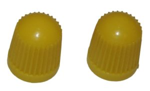 VC8Y - Yellow Plastic Caps Qty 100